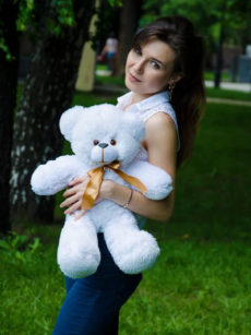 Мишка Рафаэль белый 50 см