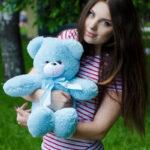 Мишка Рафаэль голубой 50 см