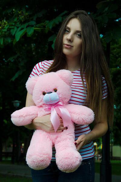 Мишка Рафаэль розовый 50 см