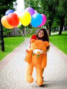 Медведь Рафаэль 120 см Карамельный