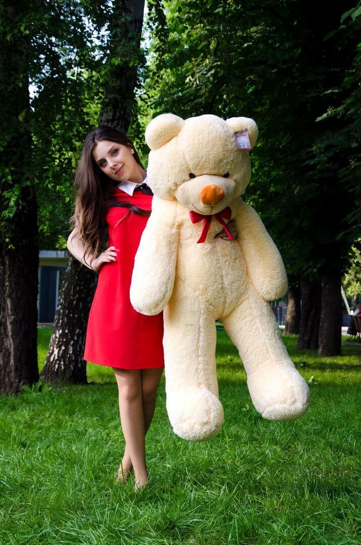 Медведь Рафаэль 140 см Персик