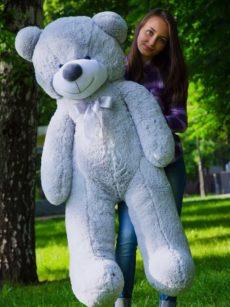 Медведь Рафаэль 140 см Серый