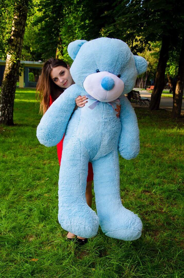 Медведь Рафаэль 160 см Голубой