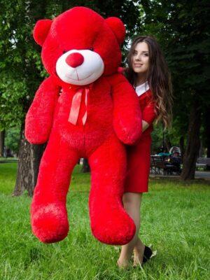 Медведь Рафаэль 160 см Красный