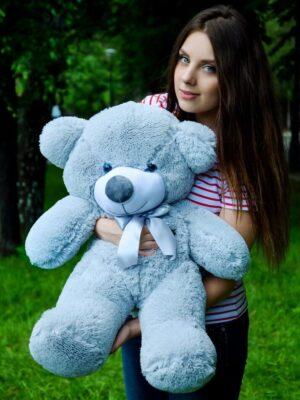 Медведь Рафаэль 80 см Серый