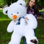 Медведь Барни 120 см Белый — Coolbear
