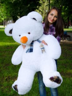 Медведь Барни 120 см Белый