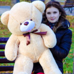 Медведь Бант 110 см Бежевый — Coolbear