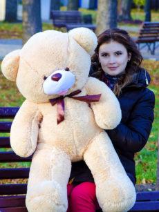 Медведь Бант 110 см Бежевый