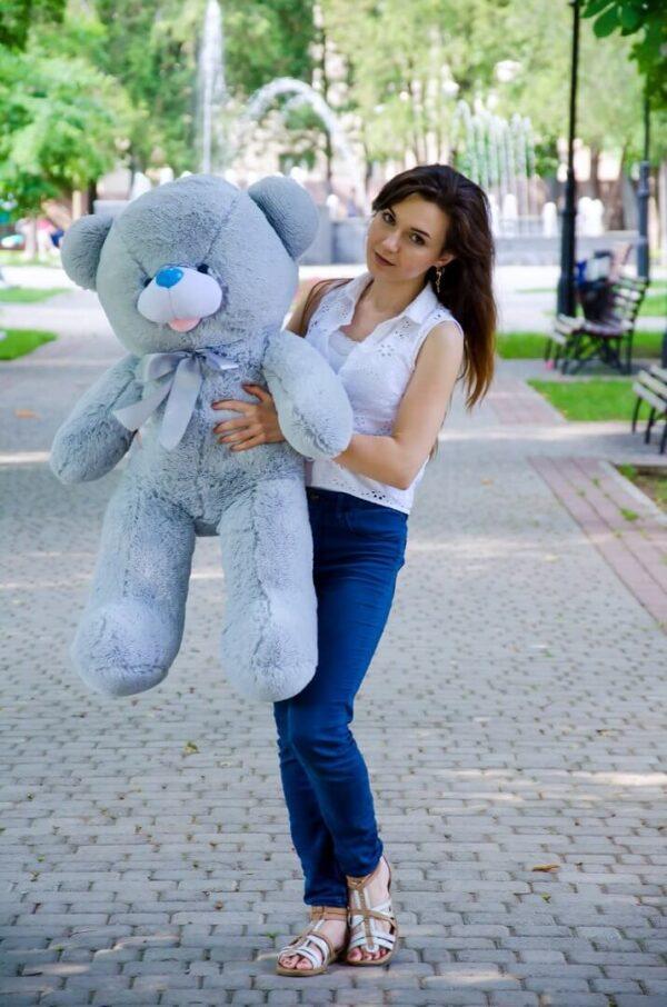 Медведь Бант 110 см Серый
