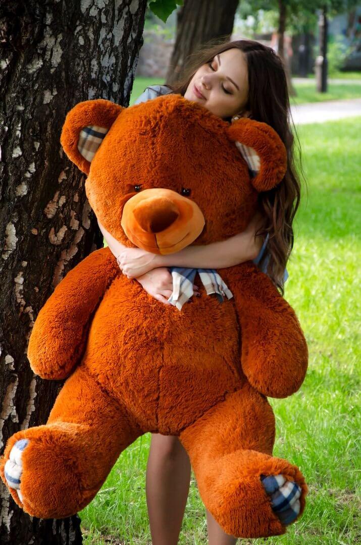 Медведь Барни 120 см Коричневый