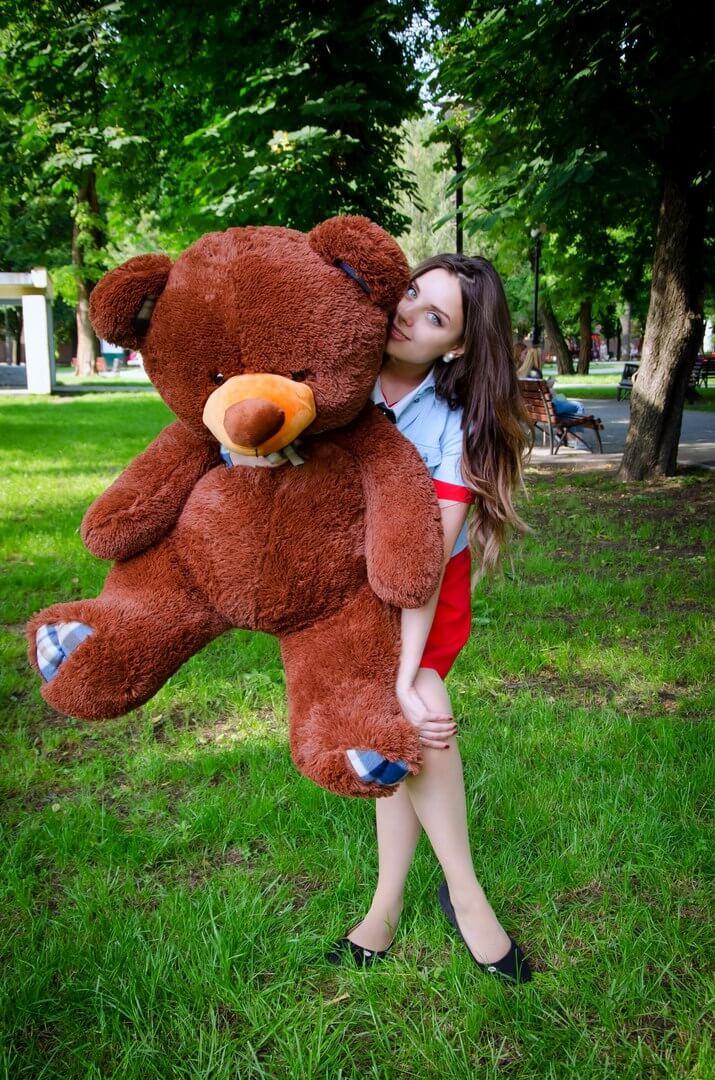 Медведь Барни 120 см Шоколадный
