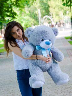 Медведь Бойд 100 см Серый