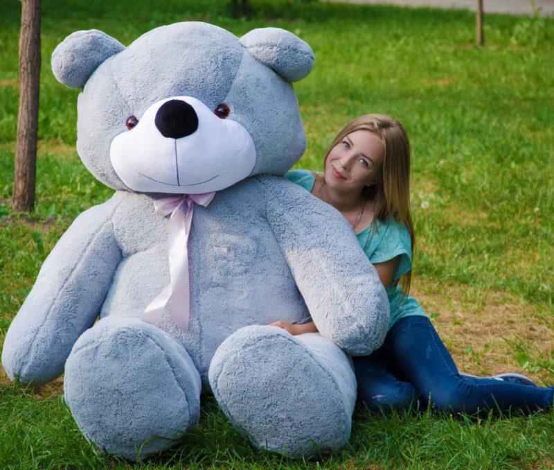 Медведь Нестор 240 см Серый