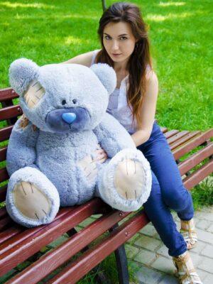 Медведь Потап 90 см Серый