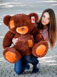 Медведь Потап 90 см Шоколадный