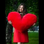 Подушка сердце 100 см