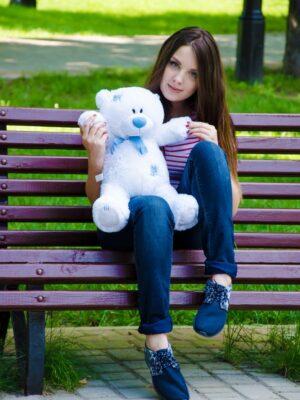 Медведь Тедди 60 см Белый