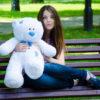 Медведь Тедди 80 см Белый