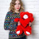 Медведь Тини 50 см Красный — Coolbear