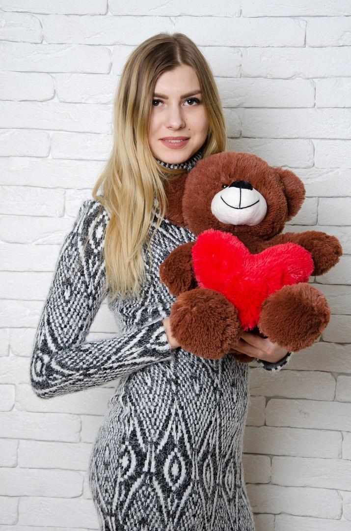 Медведь Тини 50 см Шоколадный