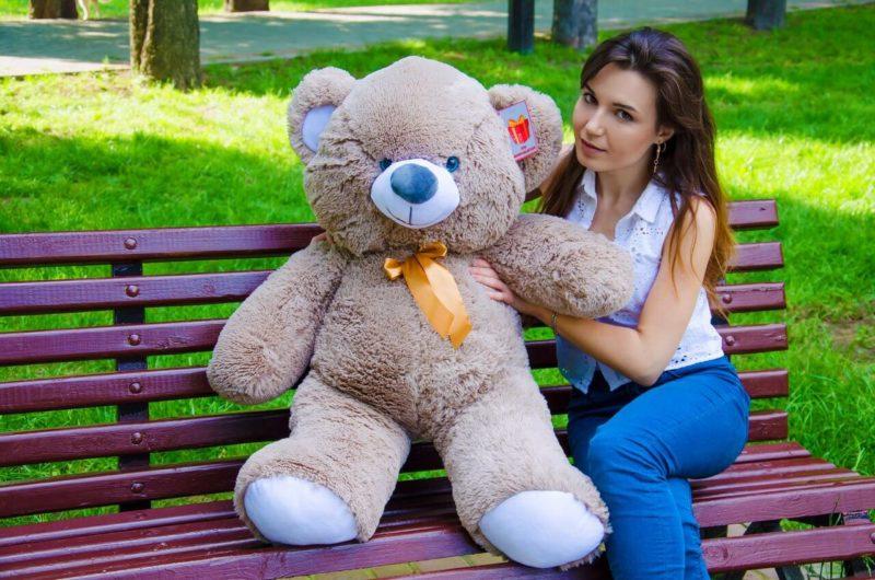 Медведь Томми 100 см Капучино