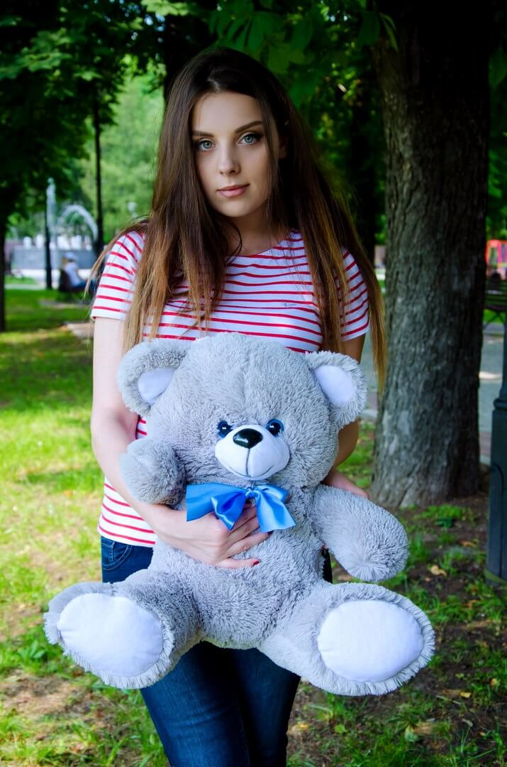 Медведь Томми 65 см Серый