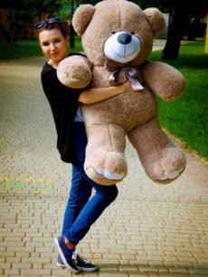 Медведь Ветли 130 см Капучино