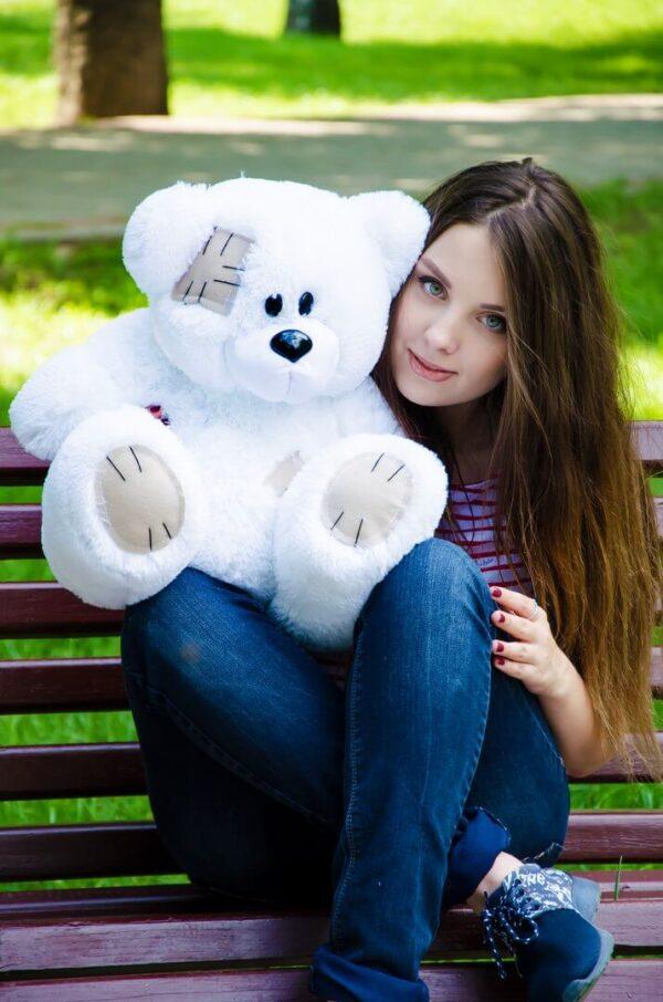 Медведь Потап 50 см Белый