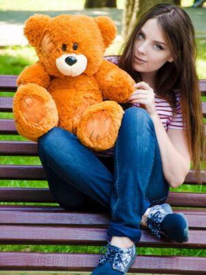 Медведь Потап 50 см Карамельный