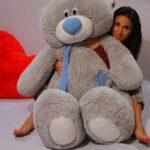 Медведь Тедди 140 см Серый — Coolbear