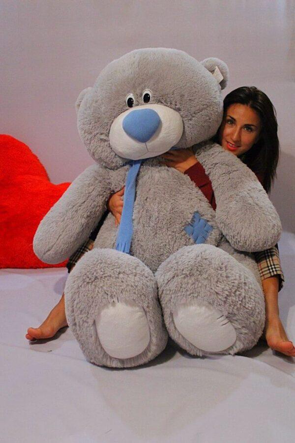 Медведь Тедди 140 см Серый
