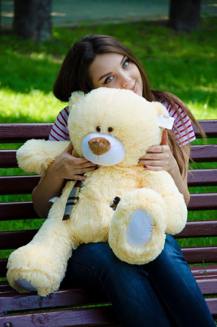 Медведь Тедди 80 см Абрикос