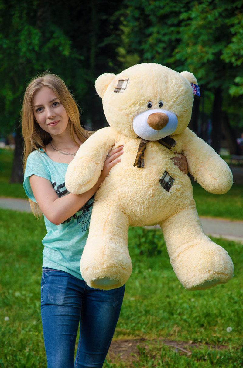 Медведь Тедди 110 см Абрикос