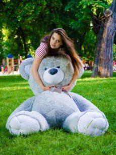 Медведь Томми 180 см Серый