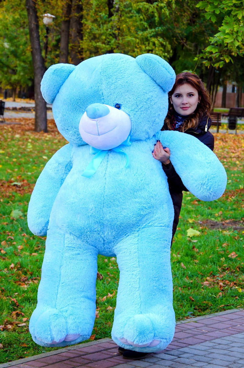 Медведь Ветли 200 см Голубой