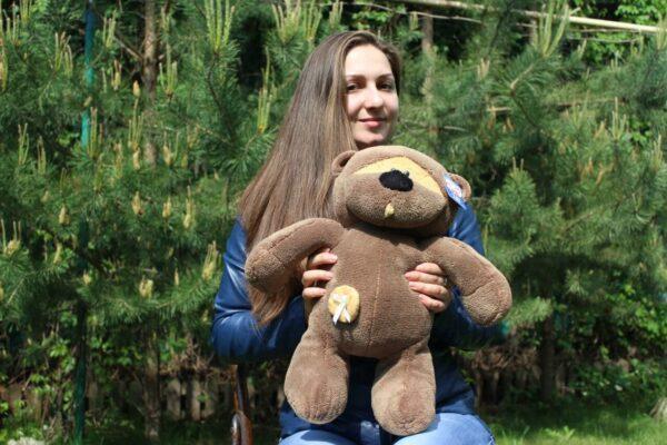 Медведь Физзи Мун сидячий Шоколадный 45 см