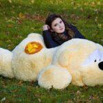 Медведь Физзи Мун лежачий Персик 200 см — Coolbear