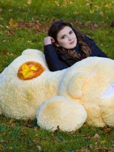 Медведь Физзи Мун лежачий Персик 200 см
